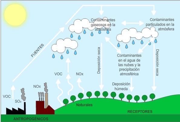 Resultado de imagen de fotos de la lluvia acida